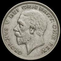 1930 George V Silver Half Crown, Very Rare, VF