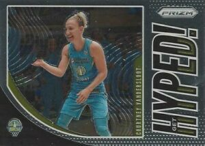 2020 WNBA PANINI PRIZM * COURTNEY VANDERSLOOT * GET HYPED * INSERT CARD #10 SKY