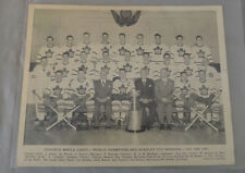 1947-48-49 NHL Toronto Maple Leafs Stanley Cup Hockey Champions Team Photo