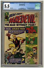 Daredevil #1 (CGC 5.5) C-OW pgs Marvel Comics 1964 Origin & 1st app! (j#1958)