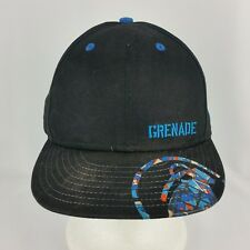 Grenade New Era Fitted 7 1/4 Blue Black Baseball Hat or Cap Cotton 59Fifty