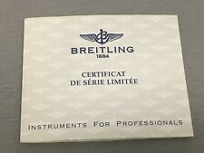 GENUINE BREITLING 18K GOLD CROSSWIND LIMITED EDITION BOOKLET  - BUY IT NOW!