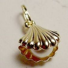 New 14k Gold Medium Oyster w/Cultured Pearl Pendant-Free Ship