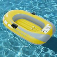 One Person PVC Inflatable Drifting Fishing Air Boat Kayak Canoe w/Rope Yellow US