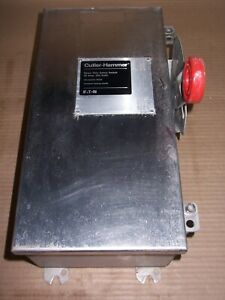 Cutler DH221NWK Safety Switch Disconnect 30 Amp 240v Fusible Stainless Steel 1P