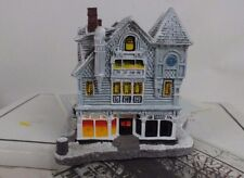 "Rockwell's Christmas village Antigue Shop"" 1988 train village Iob"
