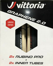 Vittoria Rubino Pro G 2.0 clinchers with free tubes 700 x 25 black / gum (tan)