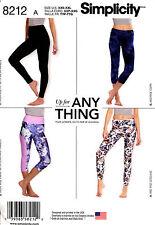 Simplicity Sewing Pattern 8212 Women's XXS-XXL knit Leggings Yoga pants