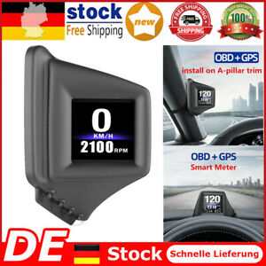 Autocomputer OBD 2 GPS HUD Armaturenbrett Tachometer Turbodruck-Temperaturmesser