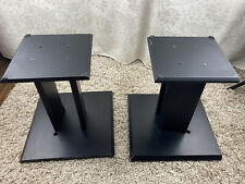 Speaker stands matt black