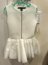 NWT Girl's Dolls And Divas Couture White Dress With Rhinestones, Size 5