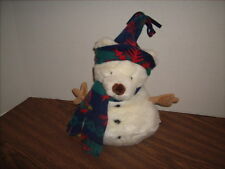 """Russ Berrie Snowbeary TEDDY BEAR  SNOWMAN Plush New with Tags 10"""""""