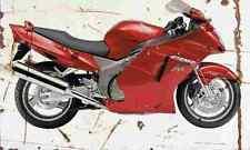 Honda CBR1100XX SuperBlackbird 2002 Aged Vintage Photo Print A4 Retro poster