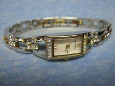 Women's Petite FOSSIL Water Resistant Gemmed Watch w/ New Battery