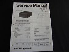 Original Service Manual Technics RS-CH7