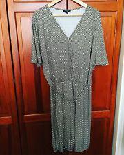 New! THERAPY LONDON Geometric Viscose Jersey Batwing Tunic Kaftan Wrap Dress 10