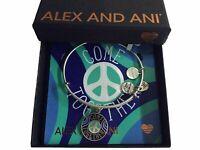 Alex and Ani Come Together Bangle Bracelet Rafaelian Silver NWTBC