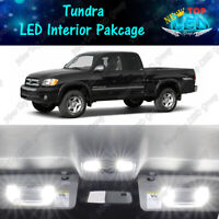 CANBUS White Interior LED Lights Package Kit For 2000 - 2004 Toyota Tundra