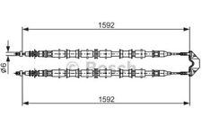 BOSCH Cable de accionamiento, freno estacionamiento OPEL ASTRA 1 987 482 102
