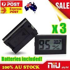 3X DIGITAL LCD Hygrometer Humidity Meter Tester REPTILE Temperature Thermometer