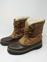 Sorel Made in Canada Brown Wool Insulated Winter Snow Boots Women's Size 9