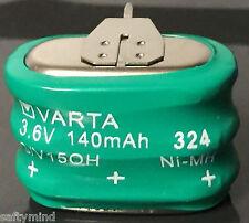 Brand New Varta 3/V150H 3.6 Volt 150mAh NiMH, 3 Pin - 55615-303-059 Battery