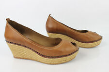 Court shoes ANN TUIL Plateau wedge heels Brown Leather T 40 VERY GOOD CONDITION