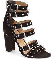 Sam Edelman 'York' Suede Studded Strappy High Heel Sandals~Size 9 1/2 B Black