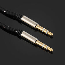1M Gold 3.5mm Jack to Jack Male Aux Cable Audio Auxiliary Lead Car PC Headphone