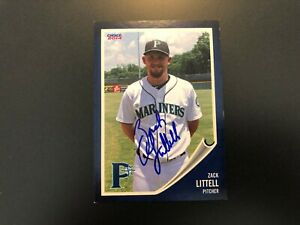 Zack Littell In Person Signed 2014 Pulaski Mariners Team Set Card