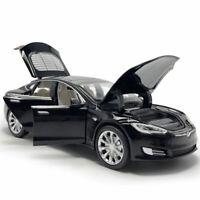 1:32 Tesla Model S 100D Die Cast Modellauto Auto Spielzeug Schwarz Geschenk Kind