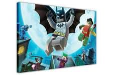 LEGO BATMAN ROBIN JOKER CATWOMAN KIDS CANVAS WALL ART PRINTS CHILDRENS POSTERS