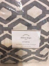Pottery Barn Dakota Diamond Print Drape 50X96L New! Gray Geometric