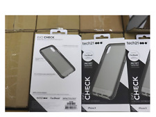 Tech21 Evo Check Case Slim Protection Cover for iPhone X Smokey Black NEW SEALED