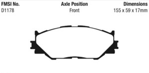 EBC Redstuff Sport Brake Front Pad Set for 06-20 Lexus IS250 / 10-20 IS250C 2.5