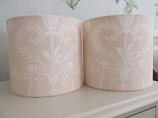 Handmade Drum Lampshade Laura Ashley Josette Linen Beige fabric 20cm