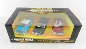 ERTL AMERICAN MUSCLE #32001 ~ 1/43 Scale Die Cast ~ CLASS OF 1957 ~ NIB ~ T180