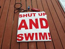"""Lifeguard T Shirt """"Shut Up And Swim"""" Great Gift For Swimmers, New York's Safest!"""