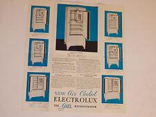 VINTAGE 1933 ELECTROLUX GAS REFRIGERATOR BROCHURE/CATALOG! CENTURY OF PROGRESS!