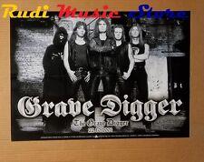 POSTER metal PROMO GRAVE DIGGER 42 X 59,5 cm NO cd dvd vhs lp live mc