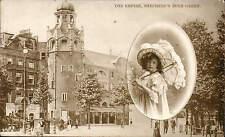 Shepherds Bush. The Empire Theatre. Girl & Parasol.