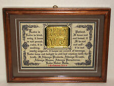"""New Bible Verse Plaques/Signs """"Love is Patient...Love Never Fails""""Christain Gift"""