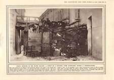 1916 Trentino Valle barricati STREET AEREI BOMB Burst fotografato
