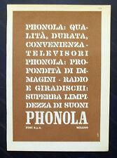 B926-Advertising Pubblicità-1959 - PHONOLA