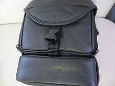 Black Leather Shoulder Camera bag for SLR for Canon Nikon Sony Fujifilm Kodak