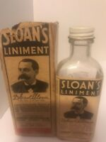 VINTAGE BOTTLE OF SLOAN'S LINIMENT WITH ORIGINAL BOX AND FLUID