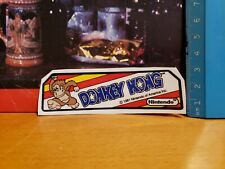 Coleco tabletop donkey kong light marquee  decal.