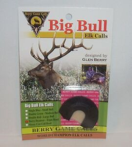 NOS BERRY BEST CALLS DOUBLE GREEN MEDIUM BULL ELK MOUTH DIAPHRAGM REED CALL