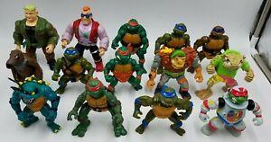 Vintage 1980's/1990's TMNT Figures Teenage Mutant Ninja Turtles Lot Read