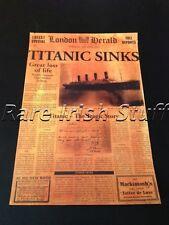 Titanic Sinks White Star Line Vintage Newspaper - 16th April 1912 - Print